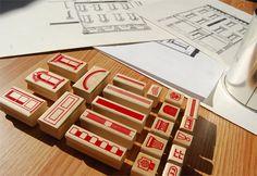 Paper Neighborhood stamp kit