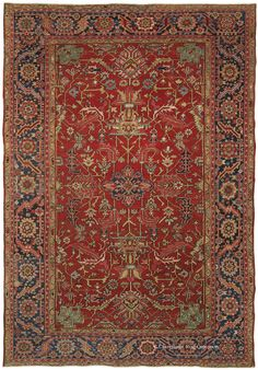 HERIZ, Northwest Persian 9ft 5in x 13ft 5in Circa 1910 http://www.claremontrug.com/antique-oriental-rugs-carpets/antique-rugs-HERIZ%2c+Northwest+Persian-2837?