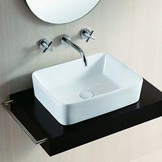 Vanité vasque design haut bassin 48x38x13cm