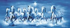 Vaastu And Fengshui Horse Painting For Success,Growth And in feng shui horse painting direction Seven Horses Painting, Feng Shui Horse, Horse Wallpaper, Mobile Wallpaper, Feng Shui Paintings, Running Horses, White Horses, Detail Art, Horse Photography