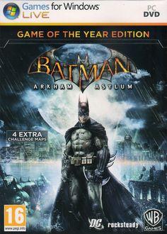 Batman: Arkham Asylum - Game of The Year Edition Genre : action/adventure | DVD : 2 DVD | Price : Rp. 10.000,-  Minimum System Requirements: CPU: Intel Pentium 4 3.0 GHz or AMD Athlon 64 3500+ CPU Speed: 3.0 GHz RAM: XP = 1 GB, Vista = 2GB OS: Windows XP & Vista Video Card: 128 MB 3D Graphics card (NVIDIA GeForce 6600 or ATI Radeon X1300 or better) Free Disk Space: 9 GB
