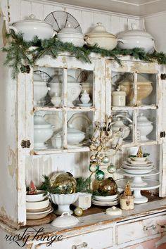 Deco navideña con toques vintage