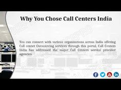 #CallCenter #Outsourcing is a powerful business model which transfers the responsibility of company's functions to a responsible and reliable source. Call Center Outsourcing services help you to save money both in terms of manpower and infrastructure. See video based on call center outsourcing and other information about call center services.