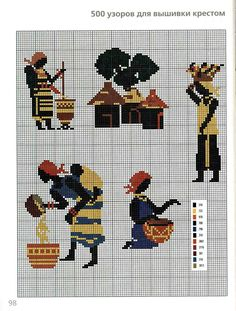 Africa, You can make very unique styles for textiles with cross stitch. Cross stitch versions can nearly amaze you. Cross stitch novices may make the versions they desire without difficulty. Just Cross Stitch, Cross Stitch Charts, Cross Stitch Designs, Cross Stitch Patterns, Cross Stitching, Cross Stitch Embroidery, Embroidery Patterns, Pixel Crochet, Crochet Cross