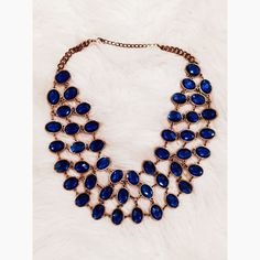 LAST CHANCE Blue & Gold Necklace Closet closing today 11/27/15 until January 2016trade Jewelry Necklaces