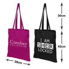 BBC Sherlock I Am SHERlocked or Cumber Collective tote bag on Etsy, $15.42