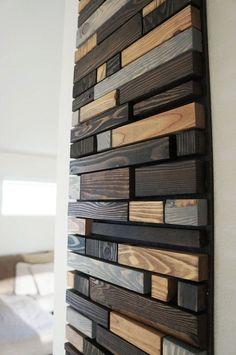 Modern Reclaimed Wood Wall Art Modern wall art in salvaged wood Reclaimed Wood Paneling, Reclaimed Wood Wall Art, Salvaged Wood, Wooden Wall Art, Wooden Walls, Rustic Wood, Wall Wood, Modern Rustic, Decoration Facade
