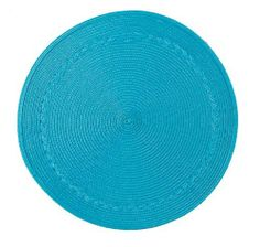 Kay Dee Designs Round Braided Placemats, Blue, Set of 6 by Kay Dee. $27.34. Indoor/outdoor use. 100% polypropylene. Easy cleanup. Set includes 6 identical placemats. Makes a great gift. Kay Dee Designs blue round braided placemats are solid color with an easy care wipe-clean finish.