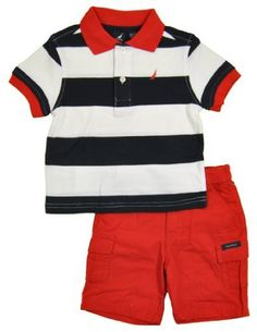 Nautica Baby-Boys Infant 2 Piece Bold Stripe Polo Short Set, Sport Navy, 12 Months Nautica,http://www.amazon.com/dp/B00AO4HJAG/ref=cm_sw_r_pi_dp_oZwnrb0P3KMDCMKN