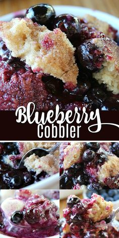 Blueberry Cobbler Blueberry Cobbler is made with fresh blueberries and has a delicious cake like topping and then baked to perfection. Blueberry Cobbler Recipes, Blueberry Dump Cakes, Blueberry Desserts, Blackberry Dessert Recipes, Blueberry Grunt, Blackberry Cobbler, Blueberry Bread, Summer Desserts, Easy Desserts