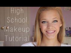 High School Makeup Tutorial♥ - YouTube