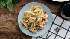 Recipe with video instructions: For a shrimp and pasta dish that's heartier than scampi, try this one made with a creamy mozzarella cheese sauce. Ingredients: 2 cups penne pasta, cooked al dente,...