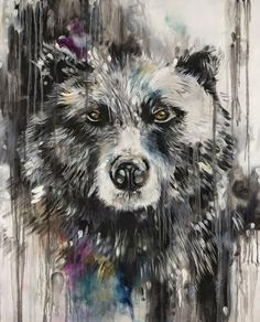 Katy Jade Dobson is a UK based oil painter from Yorkshire. Katy Jade Dobson uses a number of mediums to paint her amazing pieces. Colorful Animal Paintings, Colorful Animals, Artwork Prints, Framed Art Prints, North American Animals, A Level Art, Oil Painters, Bear Art, Wildlife Art