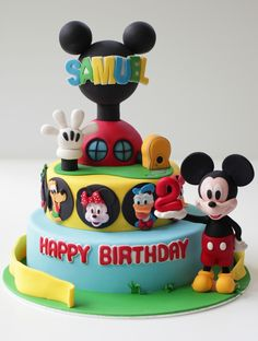 Mickey Mouse Club House Cake This Was My First Character Cake And Since Then Have Been Making Many Many More Popular Character Cakes For Ch