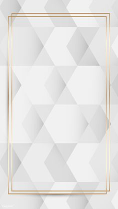 Gold frame on white and gray geometric pattern background mobile phone wallpaper vector | premium image by rawpixel.com / Toon Hexagon Pattern, Grey Pattern, Geometric Patterns, Background Powerpoint, Pattern Background, Pattern Illustration, Vector Art, Frame, Gold