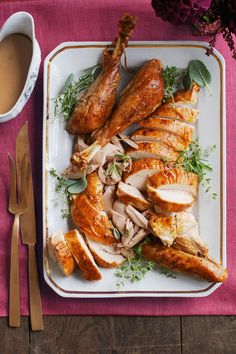 Wow your dinner table with this exquisite Thanksgiving turkey recipe. Get the recipe.   - WomansDay.com