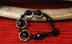 caspar casparhandmade beaded bracelet ...  black beads woman bracelet