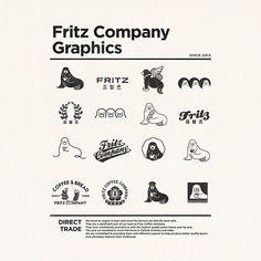 프릳츠커피컴퍼니 Typography Logo, Graphic Design Typography, Logo Branding, Pet Logo, Tag Design, Book Design, Design Ideas, Monogram Logo, Logos Photography