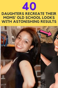 These daughters decided to recreate pictures of their moms from earlier years. The best part was that they chose to pose as their moms in the photos. Some of the images are uncanny. Here are 40 of the best ones on the internet: Viral Trend, School Looks, Fall Wallpaper, School Photos, Retirement Planning, Toddler Crafts, Quilting Projects, Happy Quotes, New Trends