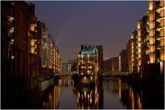 Wasserschloss within the Speicherstadt in Hamburg, Germany