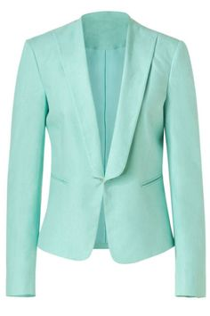 mint blazer...OBSESSED with this color for 2014