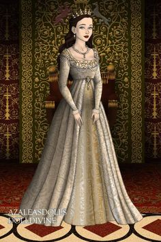 Anne Boleyn's Coronation ~ by Agog-and-Aghast ~ created using the Tudors doll maker   DollDivine.com