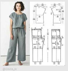 Skirt Patterns Sewing, Sewing Patterns Free, Clothing Patterns, Coat Patterns, Blouse Patterns, Fashion Sewing, Diy Fashion, Sewing Blouses, Sewing Pants