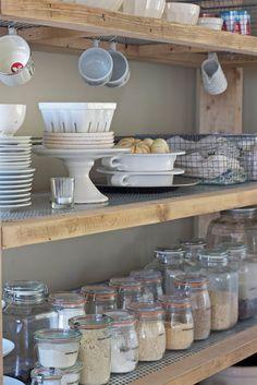 pantry with storage jars