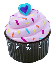 Chocolate & Pink Cupcake Timer I want it!