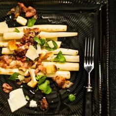 Black Salsify with Bacon