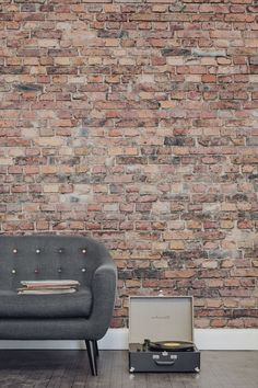 64 Cool Rustic Exposed Brick Wall Ideas For Your Living Room Decor Ideas Brick Effect Wallpaper Brick Wallpaper Living Room Brick Wallpaper