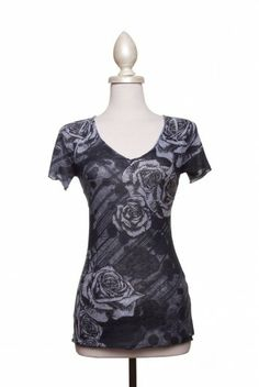 Type 2 Rhinestone Rose Top