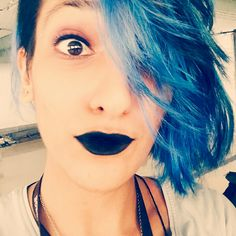 Black lips and Blue/Ash hair   Unnati Bhardwaj