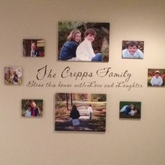 Canvas photos entryway