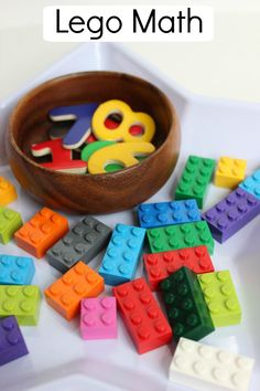 We& helping preschoolers learn to count with this fun and interactive lego math game! Math Activities For Kids, Math For Kids, Fun Math, Crafts For Kids, Maths, Math Games For Preschoolers, Numeracy Activities, Indoor Activities, Math Resources