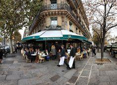 Café les Deux Magots, Saint Germain des Prés, Paris, france by Batistini Gaston, via Flickr