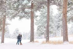 Colorado Winter Engagement Photography by Mathew & Ariel Irving