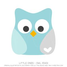Little Ones - Owl {SVG} by Miss Tiina