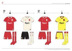 Liverpool FC Kit History, from 1892 to 2020 on Behance Liverpool Kit History, Liverpool Fc Kit, Family Guy, Behance, Football, Logo, Soccer, Futbol, Logos
