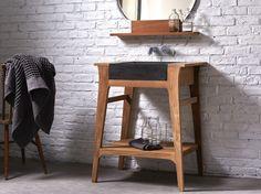 Colonne pivotante, miroir avec rangement, casier à roulettes et meuble d'angle…