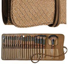 La Ferra Professional Makeup Brush Set with Soft Leather…