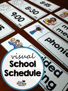 Free Visual School Schedule Cards - great for classroom or homeschool use - This Reading Mama