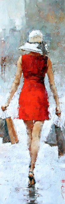 artbeautypaintings:  Retail therapy - Andre Kohn