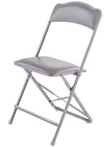 Silver Metal Folding Chairs