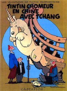 Les Aventures de Tintin - Album Imaginaire - Tintin Chômeur en Chine avec Tchang