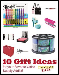 10 office gift ideas for the Office Supply addicts in your life. /  sc 1 st  Pinterest & 49 Best Gifts for Office Supply Addicts images | Gifts for office ...