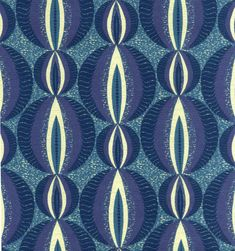 Ijoba Blue tropical African interior fabric with circular pattern Contemporary Curtains, Contemporary Interior Design, Modern Interior, Textile Design, Fabric Design, African Interior, Circular Pattern, African Fabric, Shades Of Blue