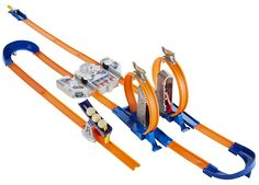 Mr. E- Hot Wheels Track Builder Total Turbo Takeover Track Set $35