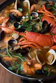 "lovesouthkorea: "" Haemul Jeongol - seafood stew (source) """