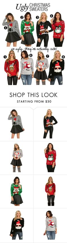 """""""Ugly Christmas Sweaters"""" by windsorstore on Polyvore                                                                                                                                                                                 More"""